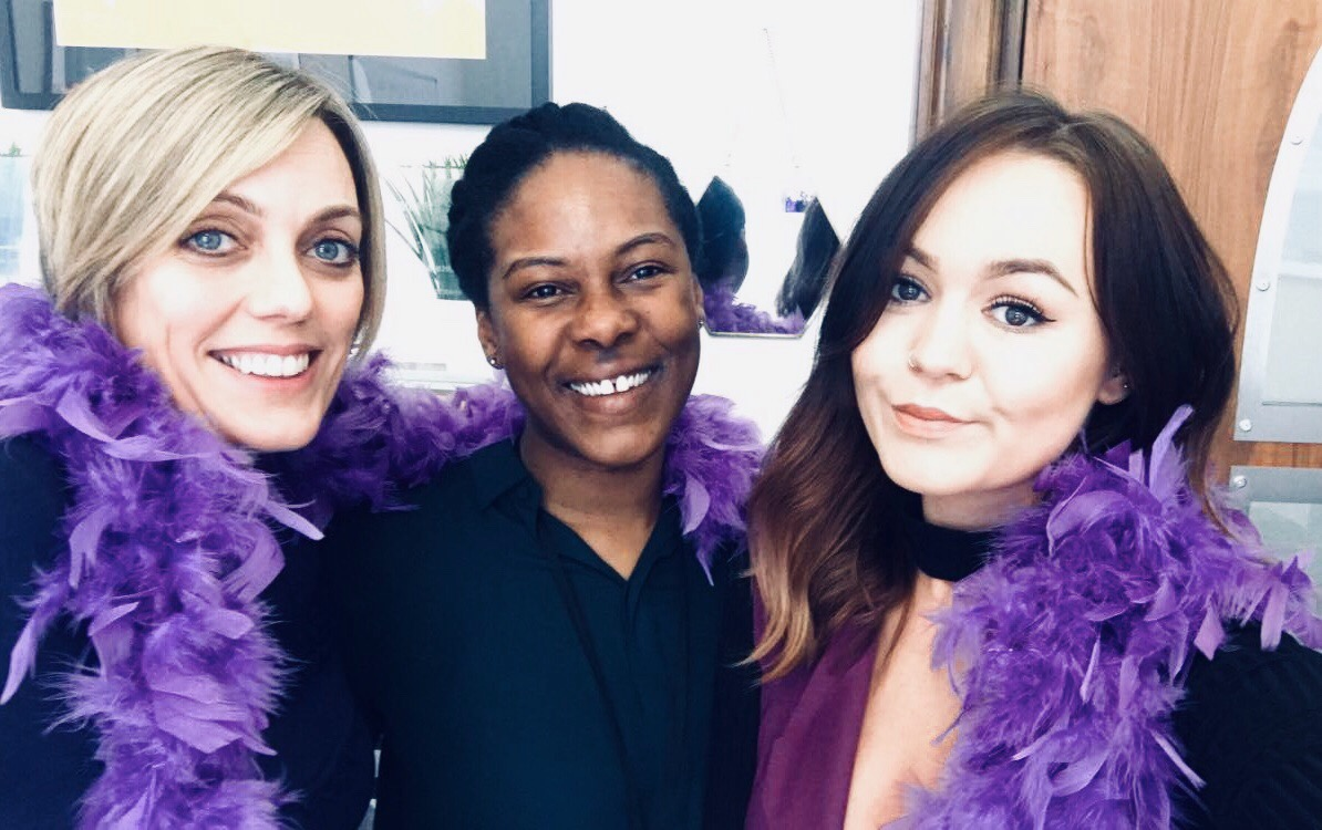 KMS Media wore purple and turned our social media purple for #internationalwomensday