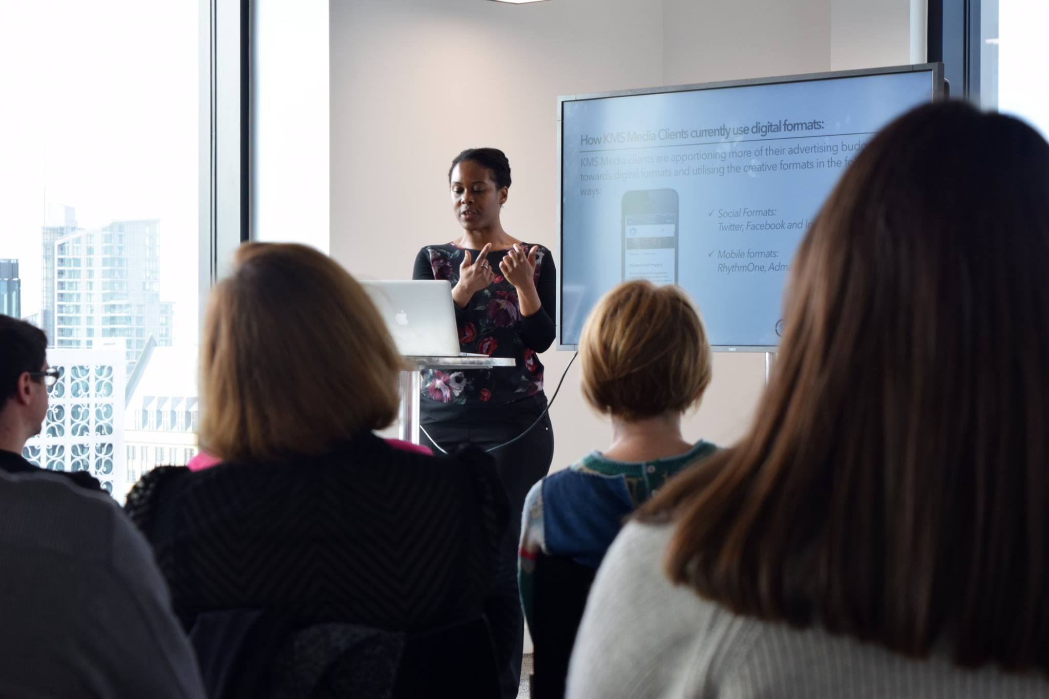 We held a 'lunch and learn' event to educate our clients on the benefits of digital advertising, more specifically RhythmOne