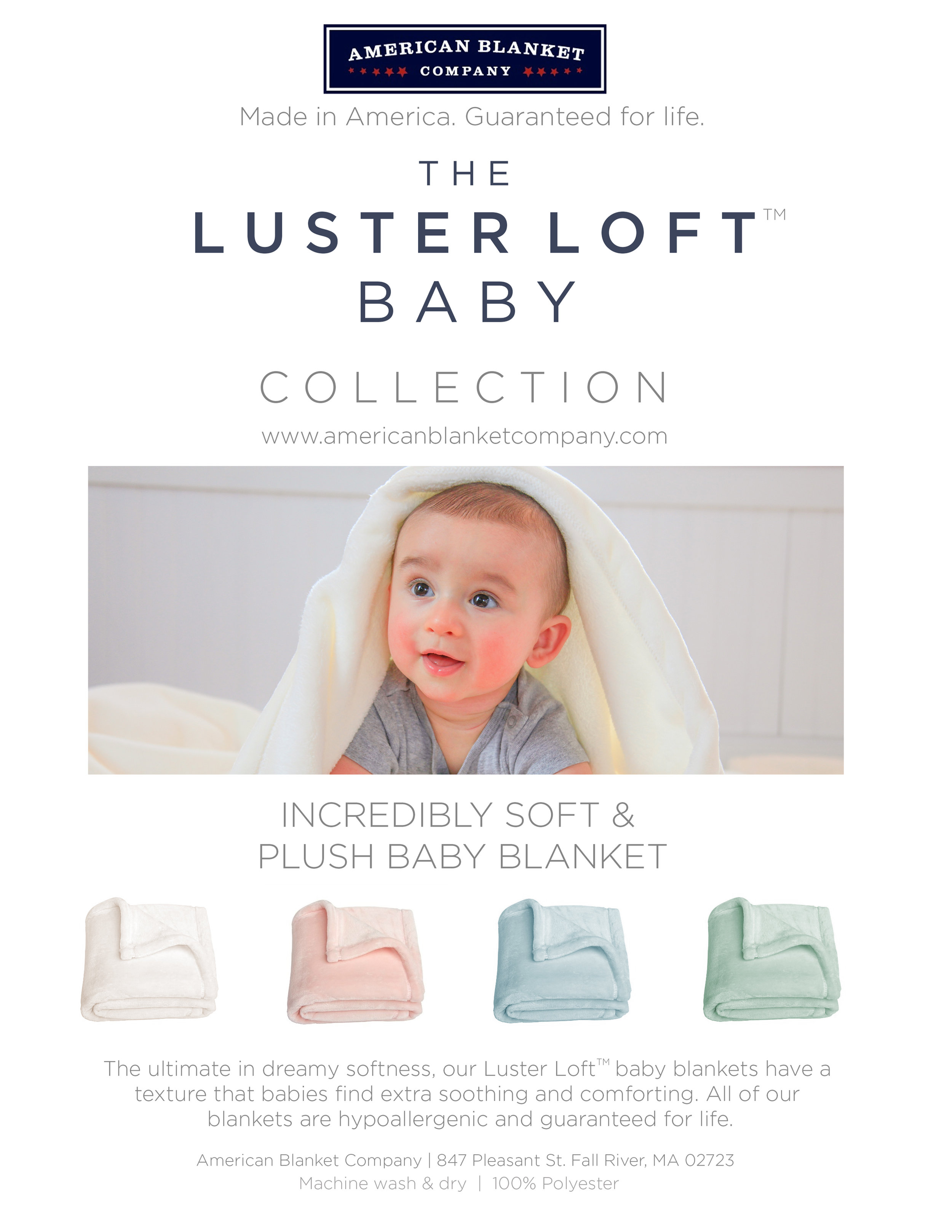 Luster Loft Baby Blanket Collection