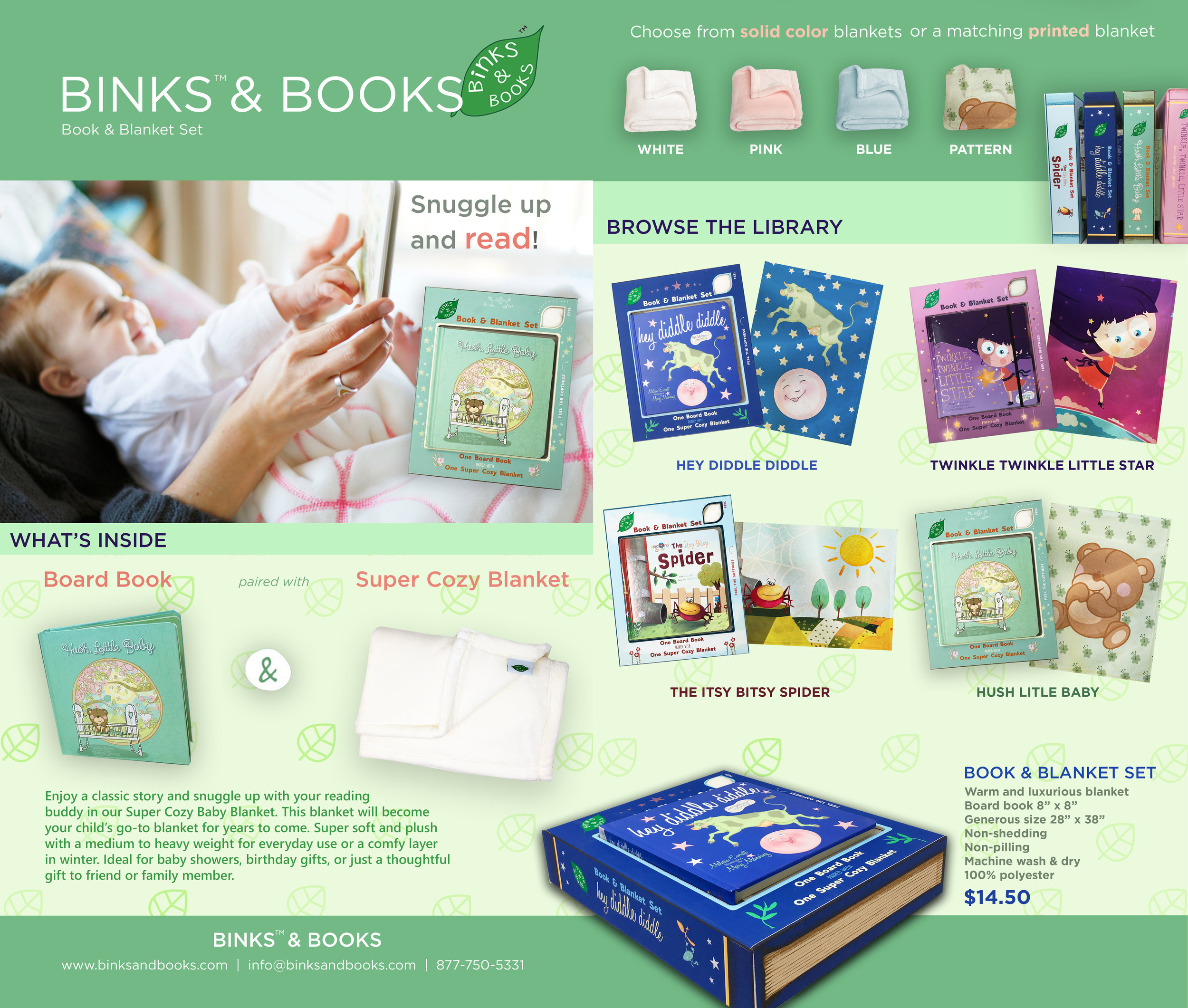 Binks & Books Sell Sheet and Package Design