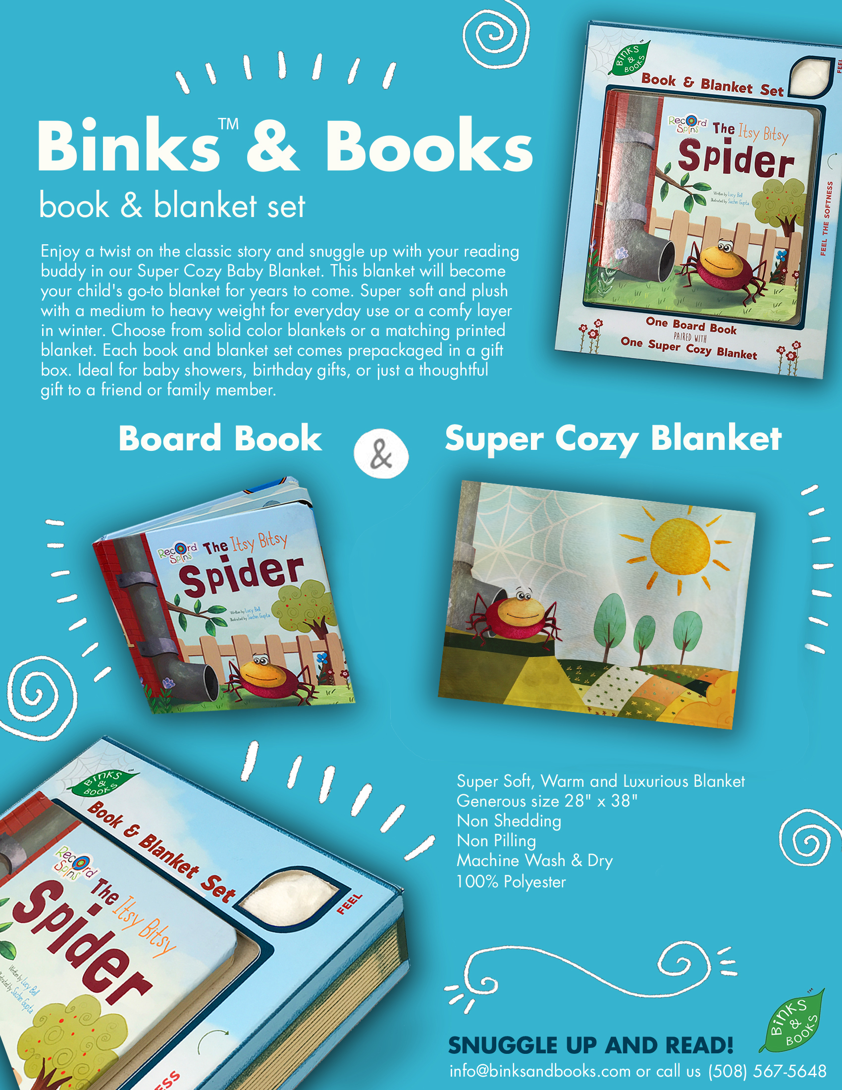 Binks & Books Sell Sheet for Itsy Bitsy Spider