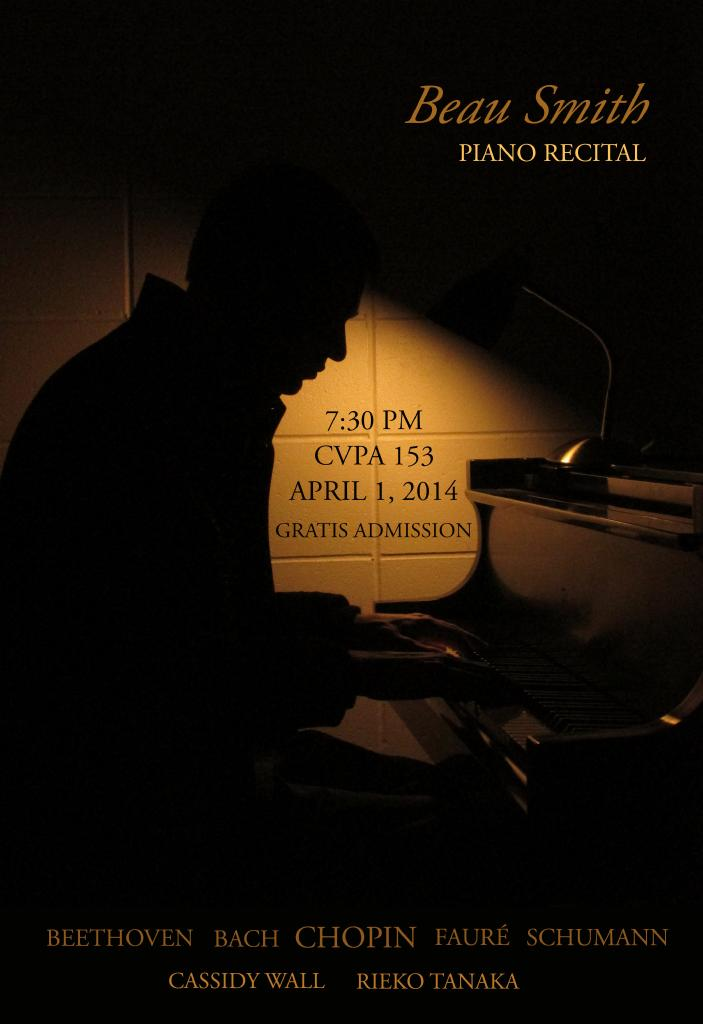 Beau Smith Piano Recital Poster