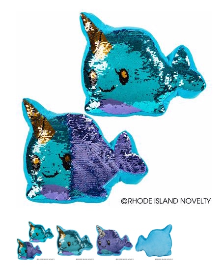 Narwhal Flip Sequin Plush - © 2019 Rhode Island Novelty. All Rights Reserved.