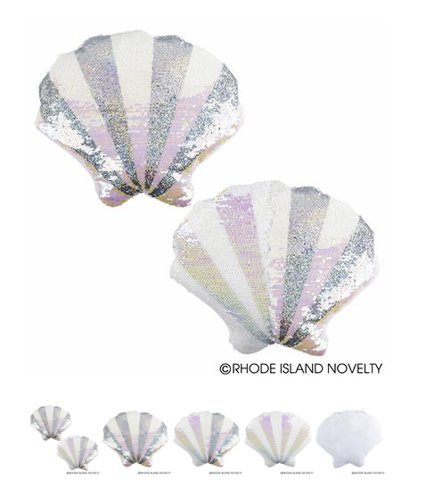 Flip Sequin Seashell Pillow - © 2019 Rhode Island Novelty. All Rights Reserved.