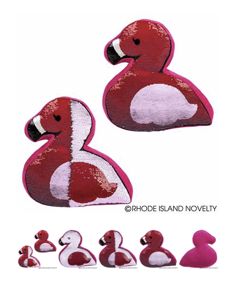 Flip Sequin Flamingo Pillow - © 2019 Rhode Island Novelty. All Rights Reserved.