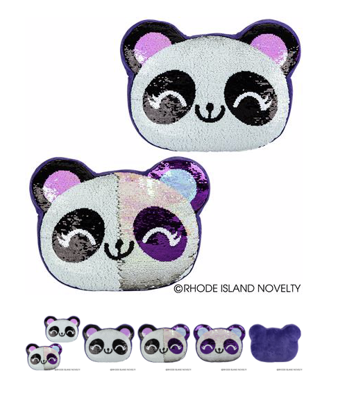 Flip Sequin Panda Pillow - © 2019 Rhode Island Novelty. All Rights Reserved.
