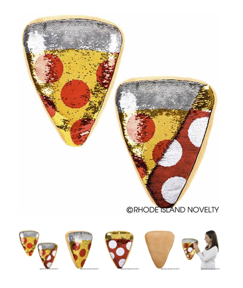 Flip Sequin Pizza Pillow - © 2019 Rhode Island Novelty. All Rights Reserved.