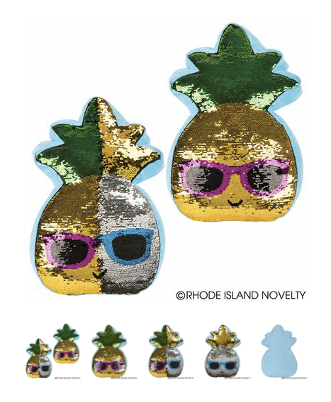 Flip Sequin Cool Pineapple Pillow - © 2019 Rhode Island Novelty. All Rights Reserved.