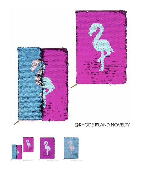 Flip Sequin Flamingo Journal - © 2019 Rhode Island Novelty. All Rights Reserved.