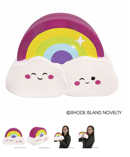JUMBO Rainbow Cloud Squishy - © 2019 Rhode Island Novelty. All Rights Reserved.