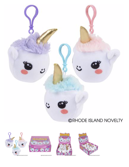 Unicorn Squish Plush Keychains - © 2019 Rhode Island Novelty. All Rights Reserved.