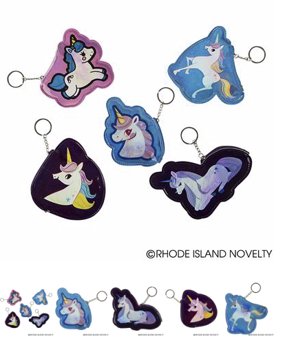Holographic Unicorn Keychains - © 2019 Rhode Island Novelty. All Rights Reserved.