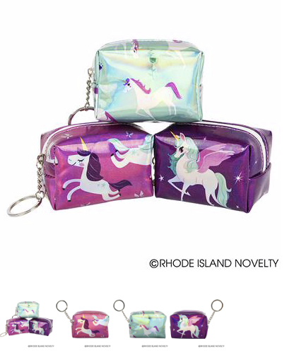 Holographic Unicorn Coin Purse - © 2019 Rhode Island Novelty. All Rights Reserved.