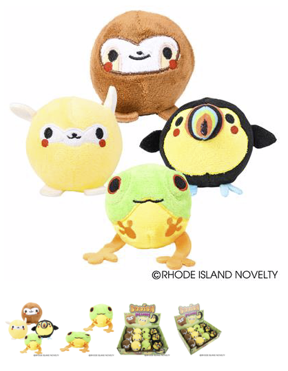 Jungle Animals Squish Plush - © 2019 Rhode Island Novelty. All Rights Reserved.
