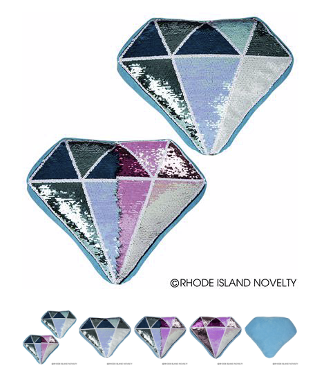 Flip Sequin Diamond Pillow - © 2019 Rhode Island Novelty. All Rights Reserved.