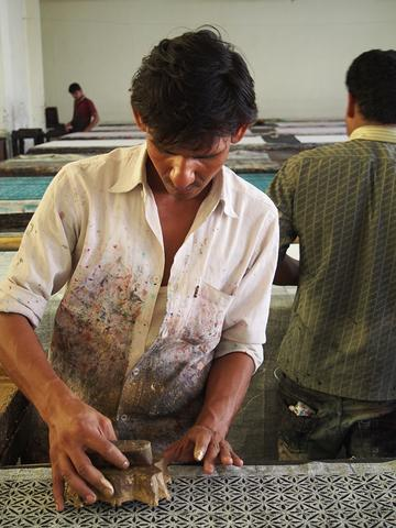 Brij Nandan, skilled artisan, has worked with Ojjas for 10 years.