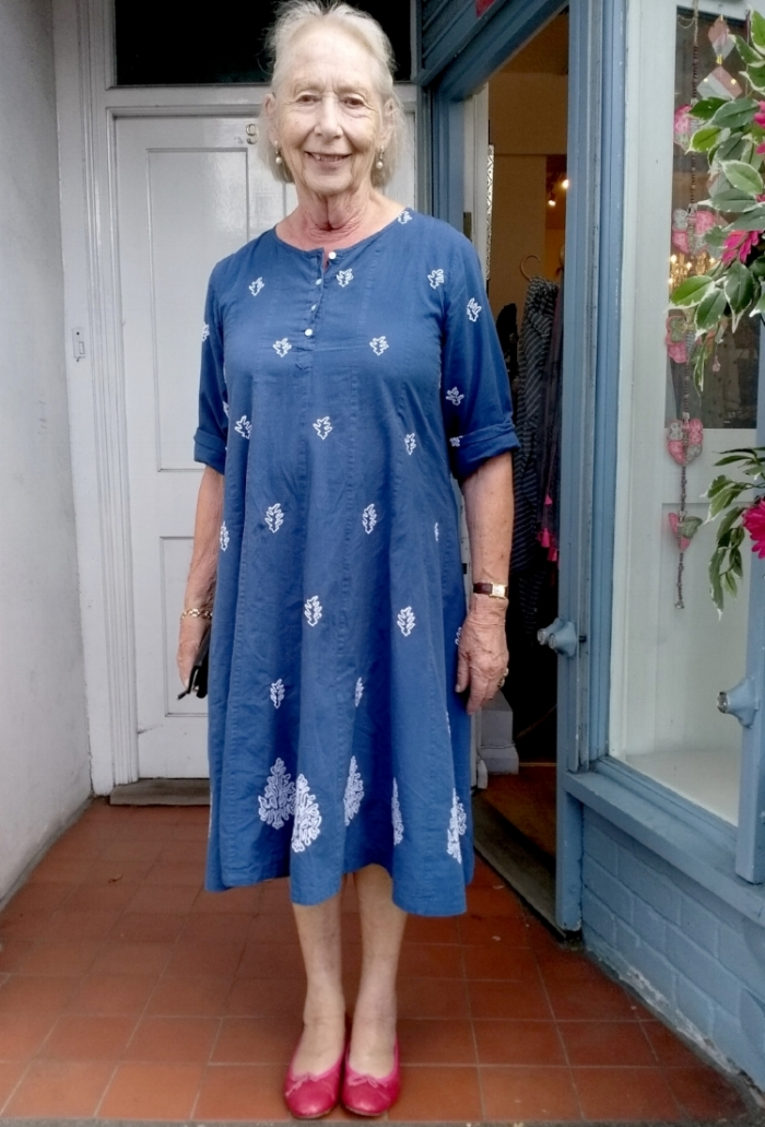 One of Jaadu's favourite customers in a dress she bought in store a couple of years ago. Image: Jaadu