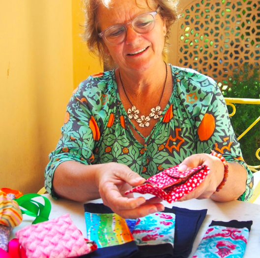 Debs explains what each girl receives in their kits and how they work.