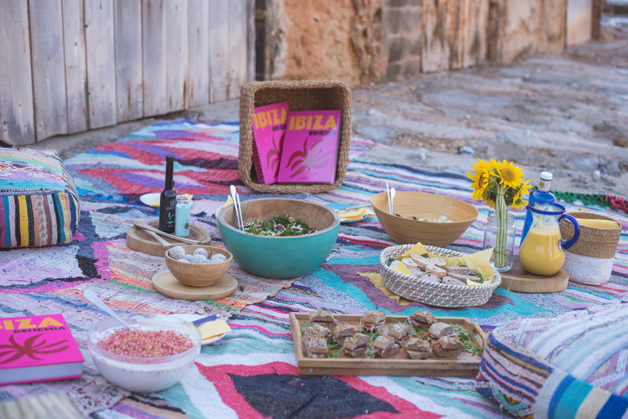 Bohemian picnic with editor of the book Ibiza Bohemia, Renu Kashyap