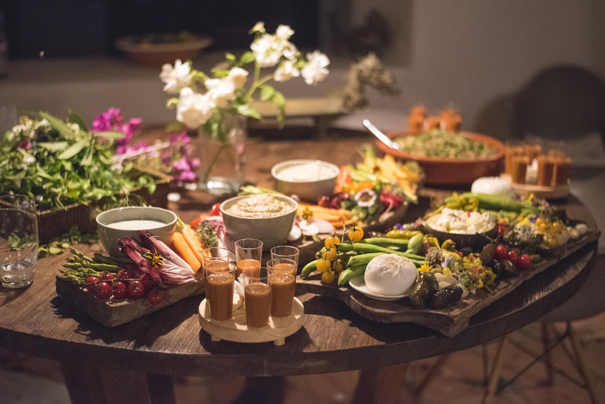 Summer Solstice celebration dinner