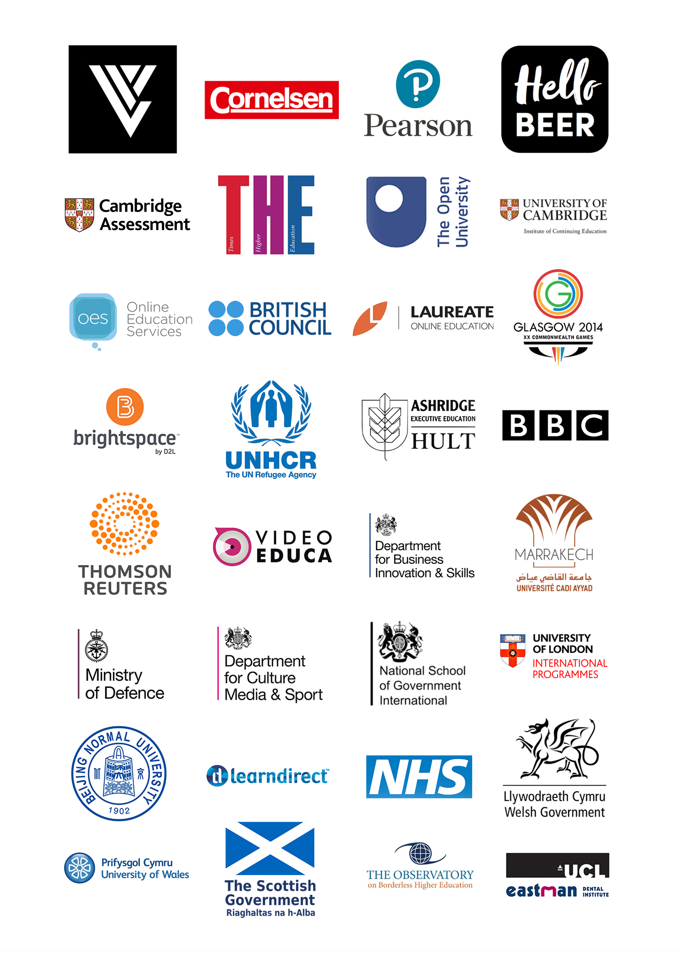 CLIENTS INCLUDE BBC, PEARSON, UNIVERSITY OF CAMBRIDGE AND THE UNIVERSITY OF LONDON