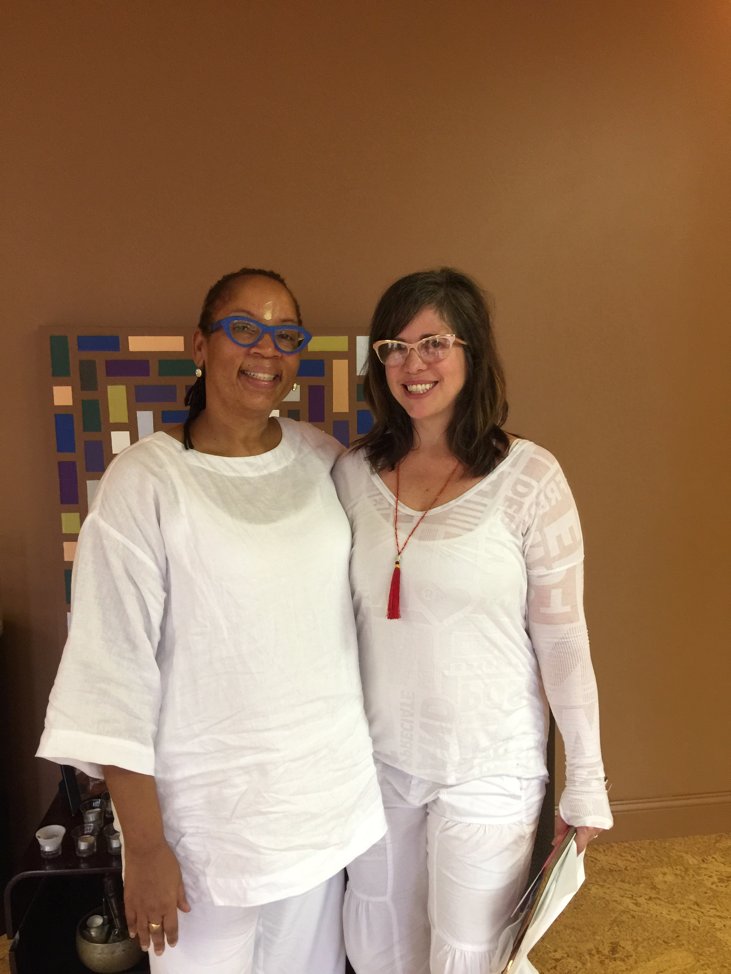 Anne Falkowski and Shelley Best on Yoga Teacher Training Graduation Day