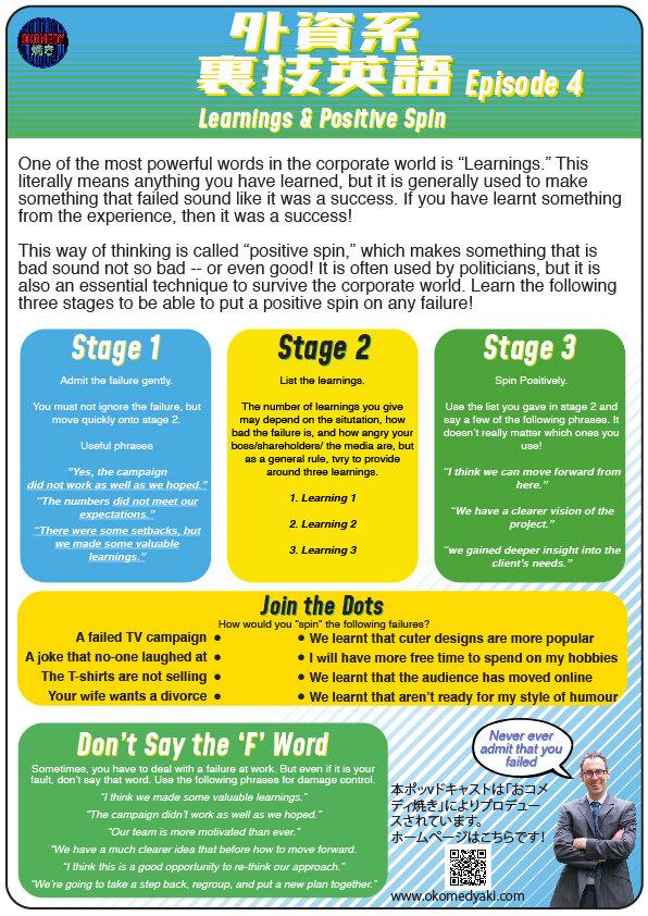 外資系裏技英語Ep#4 Worksheet -