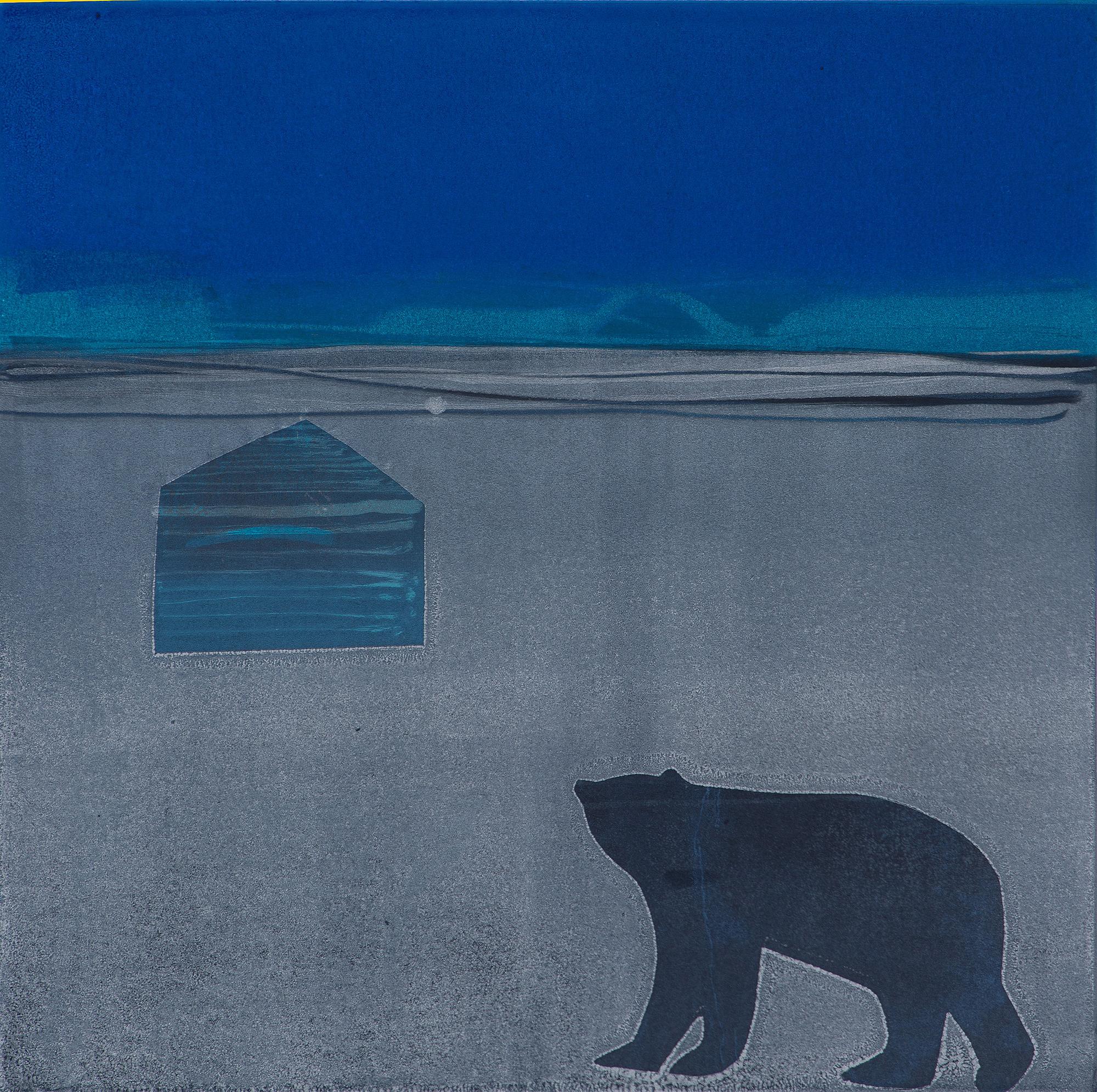 Hudson's Bay Company Hut and Bear