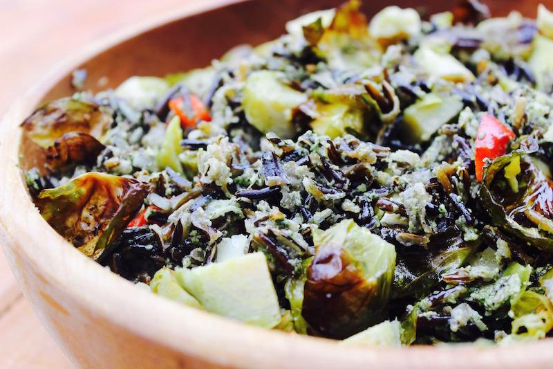 Wild Rice & Veggie with Nettle Pesto -