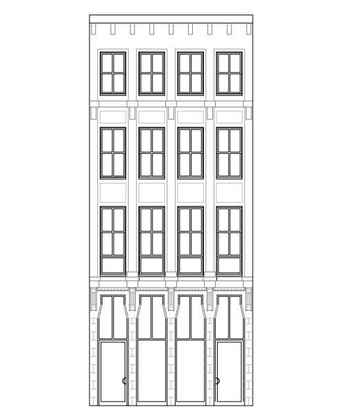 Elevations drawing of the building that's to come
