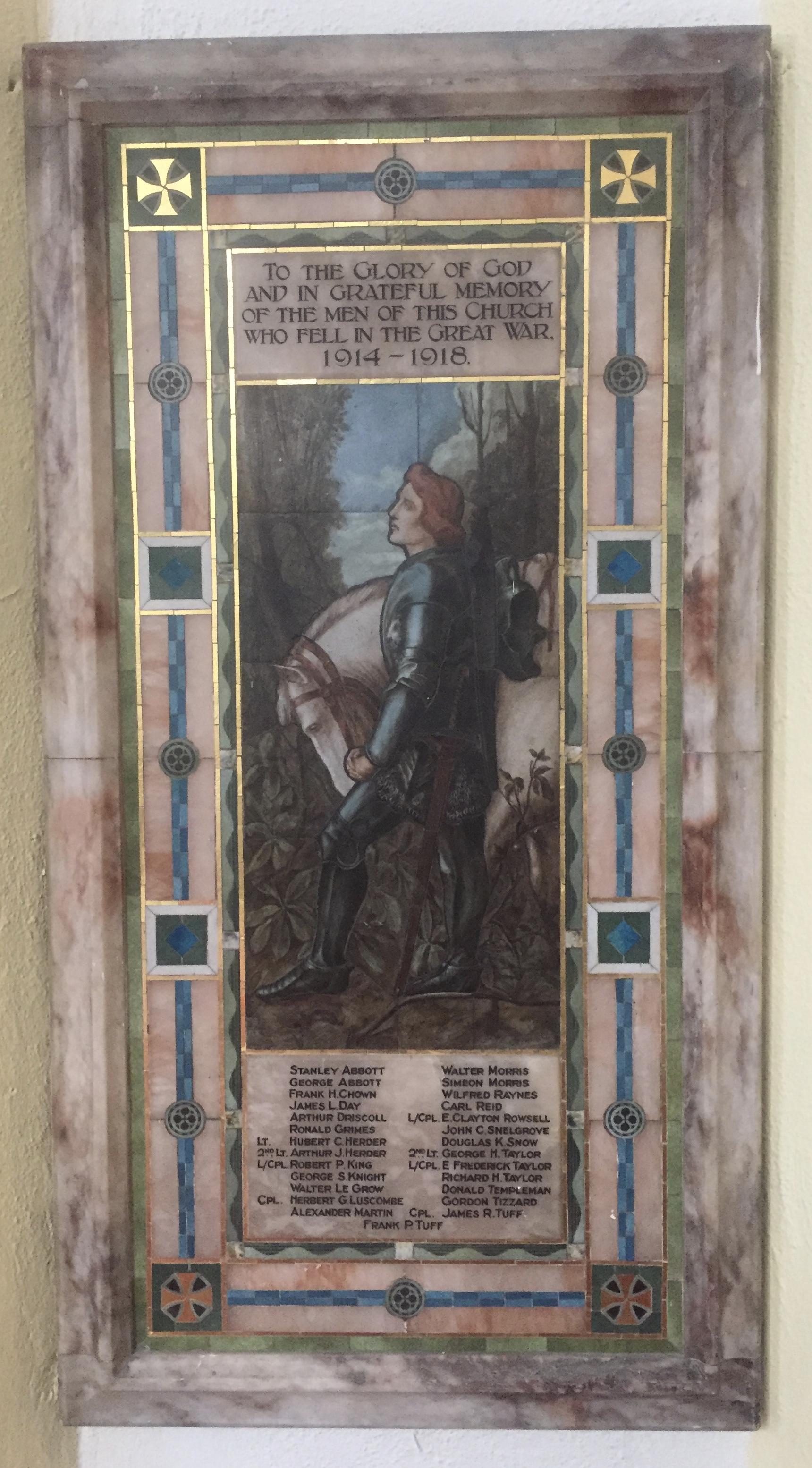 World War I Memorial Tablet
