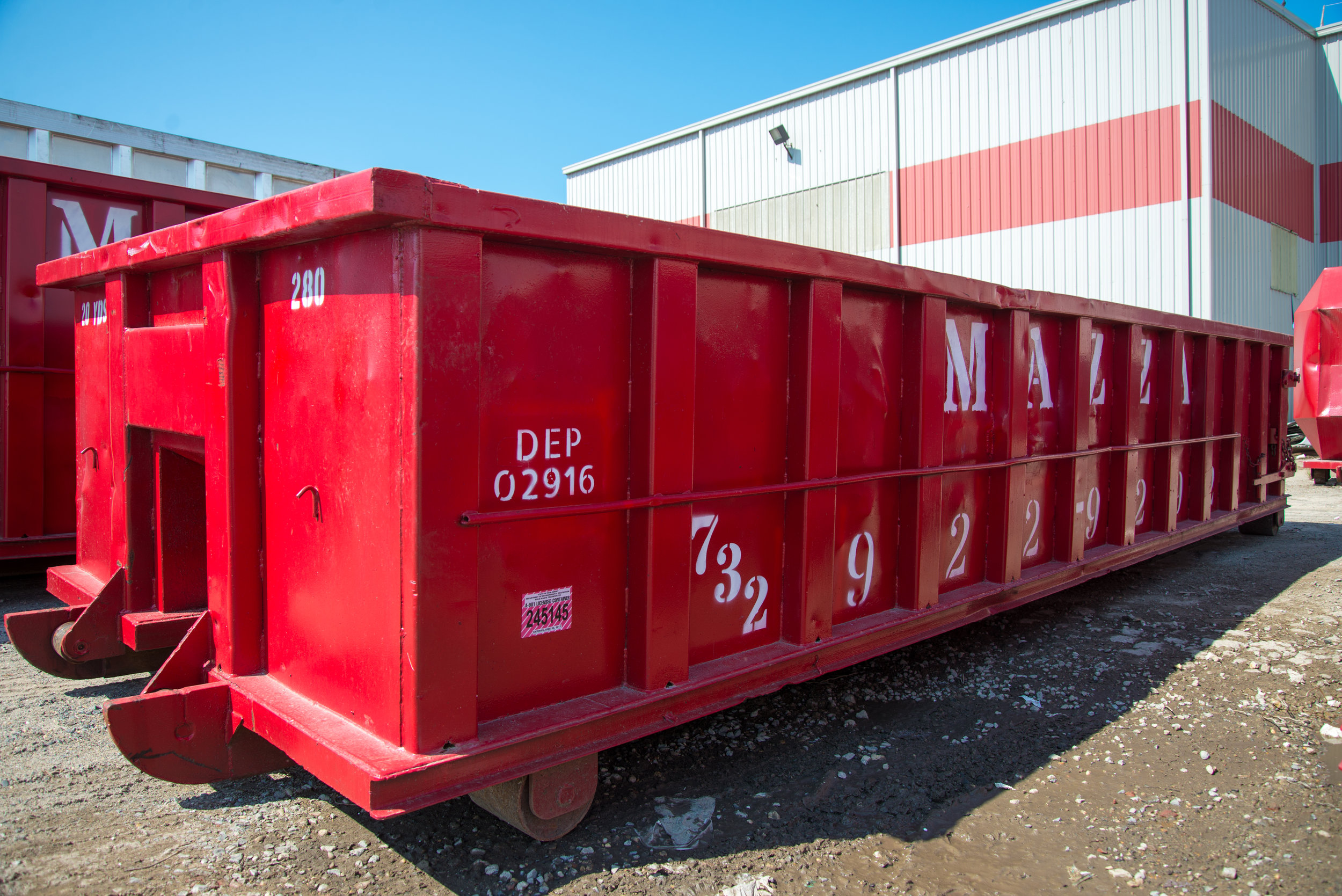 20 Yard Container - 22 ft. x 8 ft. x 4 ft. - 20 cubic yards