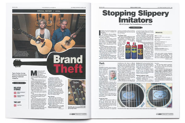 San Diego Business Journal - Brand Theft