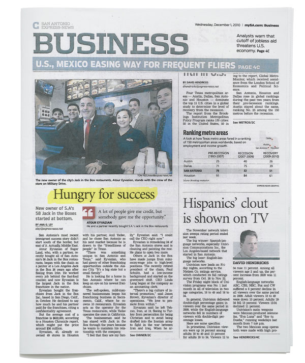 San Antonio Express-News - Hungry for Success