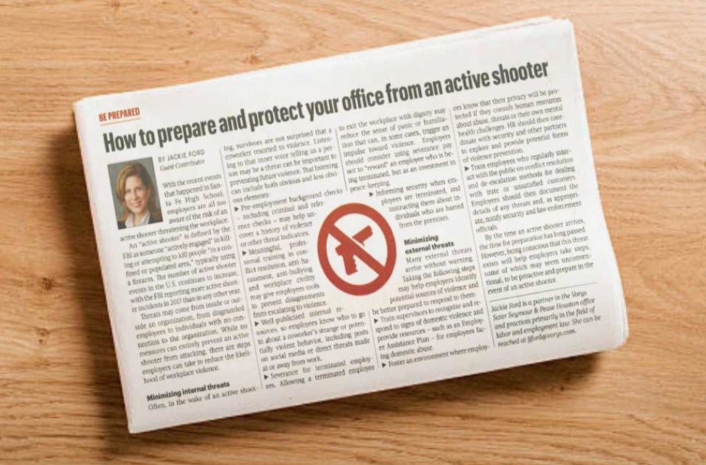 Houston Business Journal - How to Prepare and Protect from Active Shooter