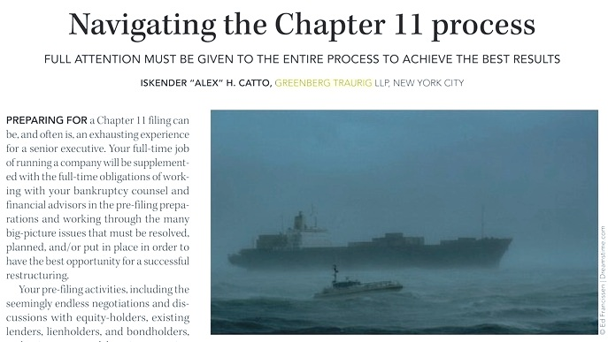 Navigating the Chapter 11 Process - Oil & Gas Financial Journal Features Article