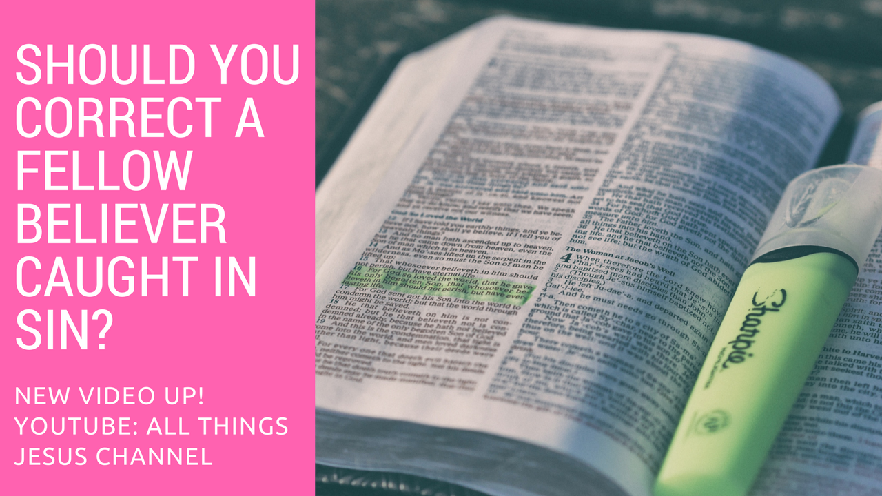 Let's talk about correction, admonishment, rebuke... whatever you want to call it lol, in the body of Christ! Comment below with your thoughts on the topic. Have you ever been corrected or needed to correct someone else? Talk to me!