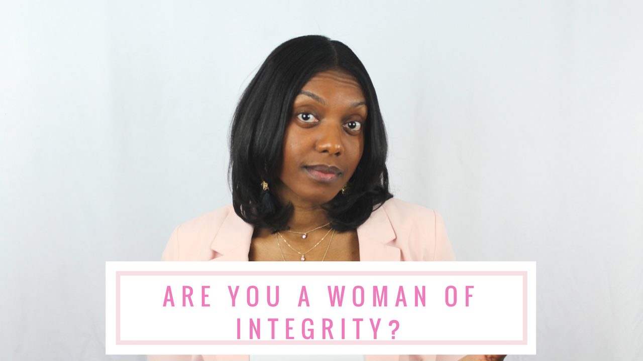 Hey ladies! So this question: Are You A Woman of Integrity? has been burning in my heart. I urge you to take a good look at yourself, ask God to search you, and really ask yourself this question. I would love to read your thoughts below!