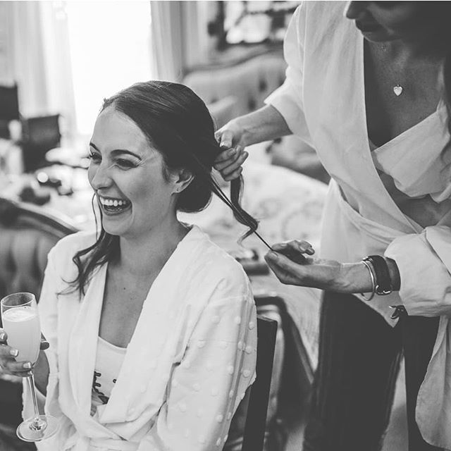 Joanna and I having a giggle on her wedding morning! Jo is a very talented hairstylist herself so I was honoured to have been asked to style her hair, she was so calm and happy and an absolute joy to style. Congrats! 🍾 Stunning photography by @livvyhukinsphoto ♥️ bridal make up @helenleemua . . . . . #sussexweddinghair #sussexbridetobe #ryewedding #ryebride #thegeorgeinrye #blackandwhitephotography #herohairstylist #weddinghairinspo #hairupspecialist #internationalweddinghair #internationalhairstylist #kentweddinghair #kenthairstylist #kenthairup #rye #kentbrides #sussexbrides #surreybride #kentweddingsupplier #nicehairdo #coolbride #modernbride #lovehairtribemember