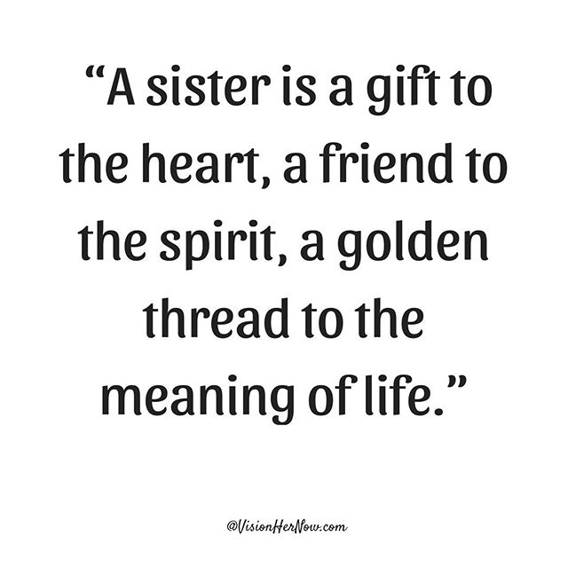 There is strength in sisterhood. Spend some time this week reconnecting with your sisters. You'll be happy you did. #SundayFunday ✨