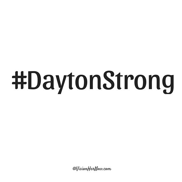 Our hearts and prayers go out to anyone affected by last night's mass shooting in our hometown. The violence has to stop! #DaytonStrong ❤️🙏🏽