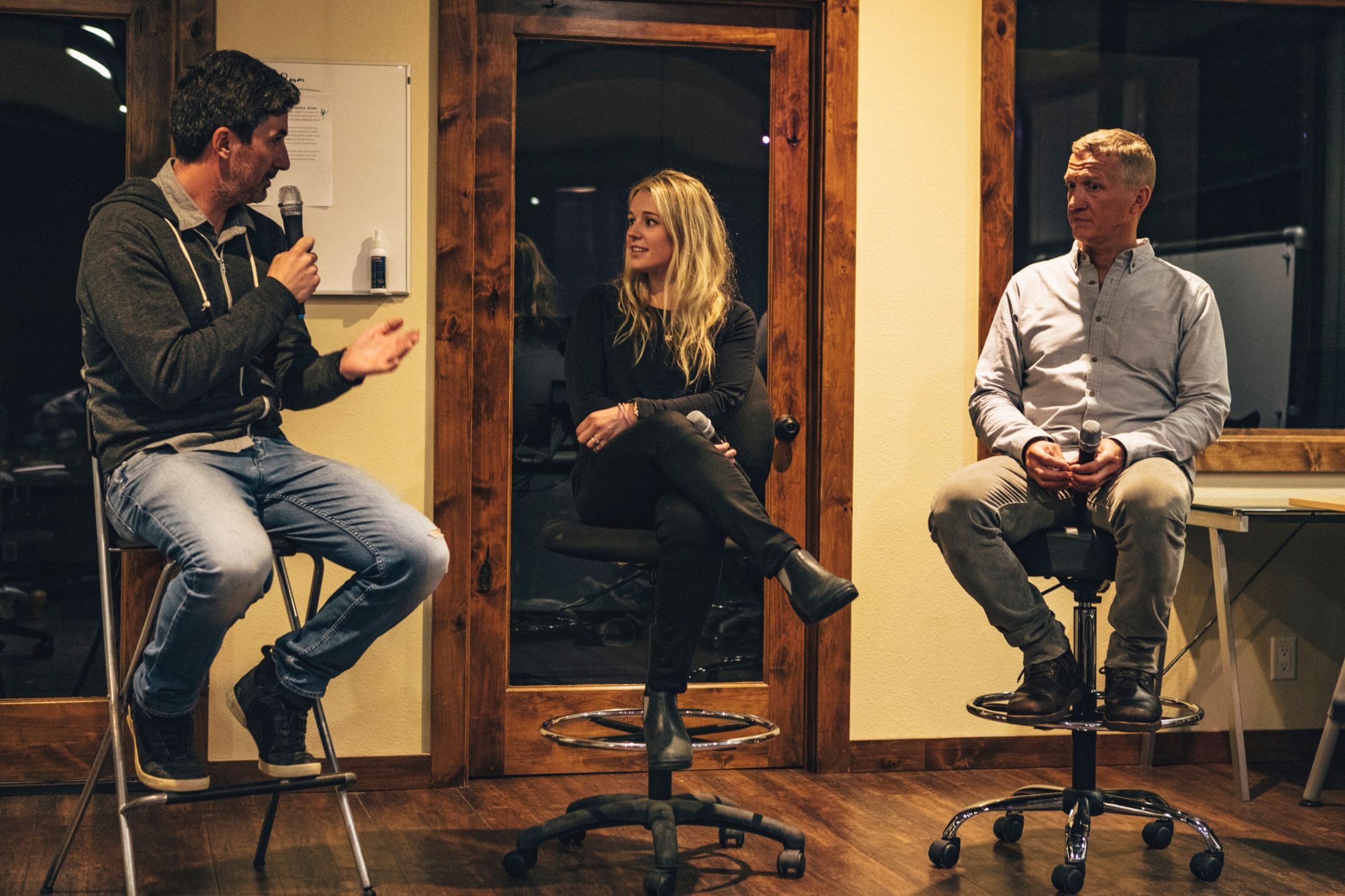 Dirk Collins and Caroline Gleich live in Jackson, WY - Dirk Collins - TGR Cofounder and President/Founder One Eyed BirdCaroline Gleich - Professional ski mountaineer and Founder Big Mountain Dreams Foundation