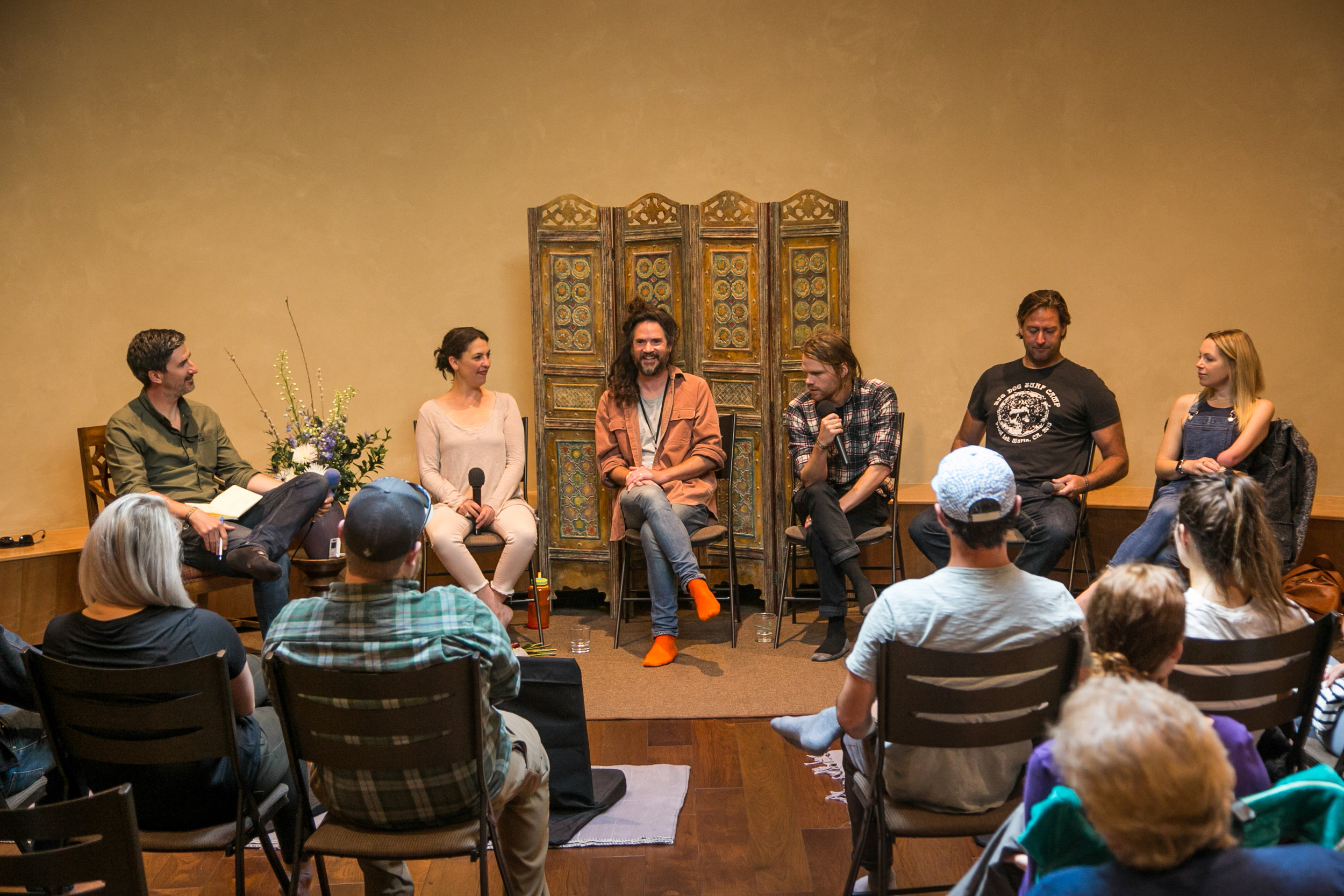 Leading a panel at  5point Adventure Film Festival