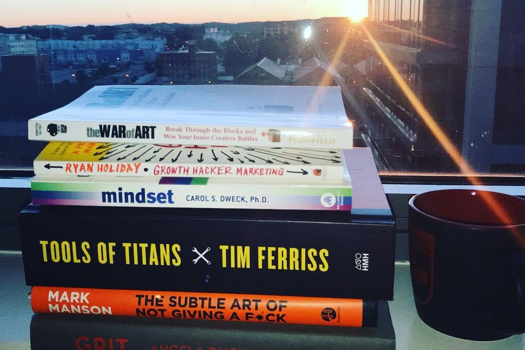 "My ""stack"" of reads in early 2018."