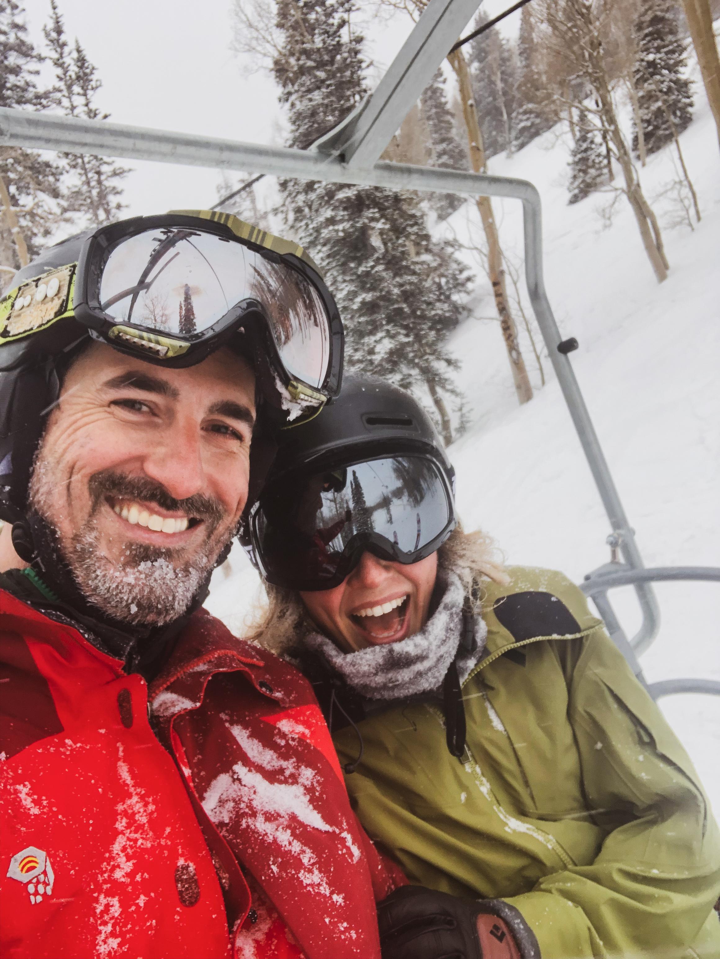 Sanni is my rad    business partner   , friend, and ski buddy all in one. Shredding Utah powder, March 2019.