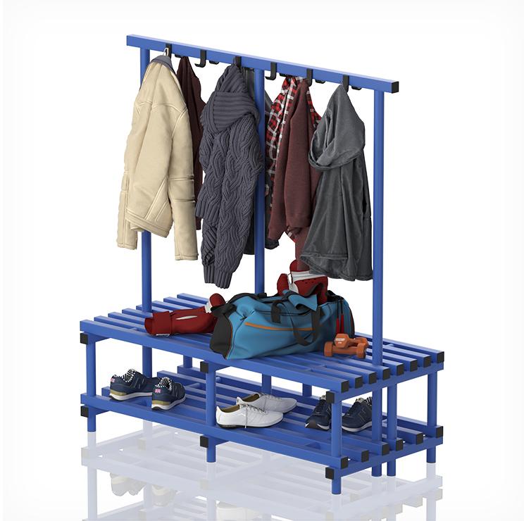 Double Plastic Bench with Coat Hanger