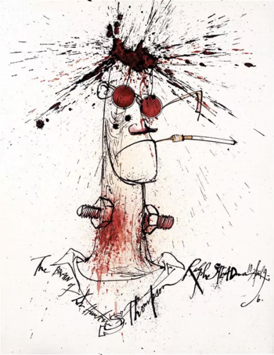 Hunter S Thompson by Ralph Steadman