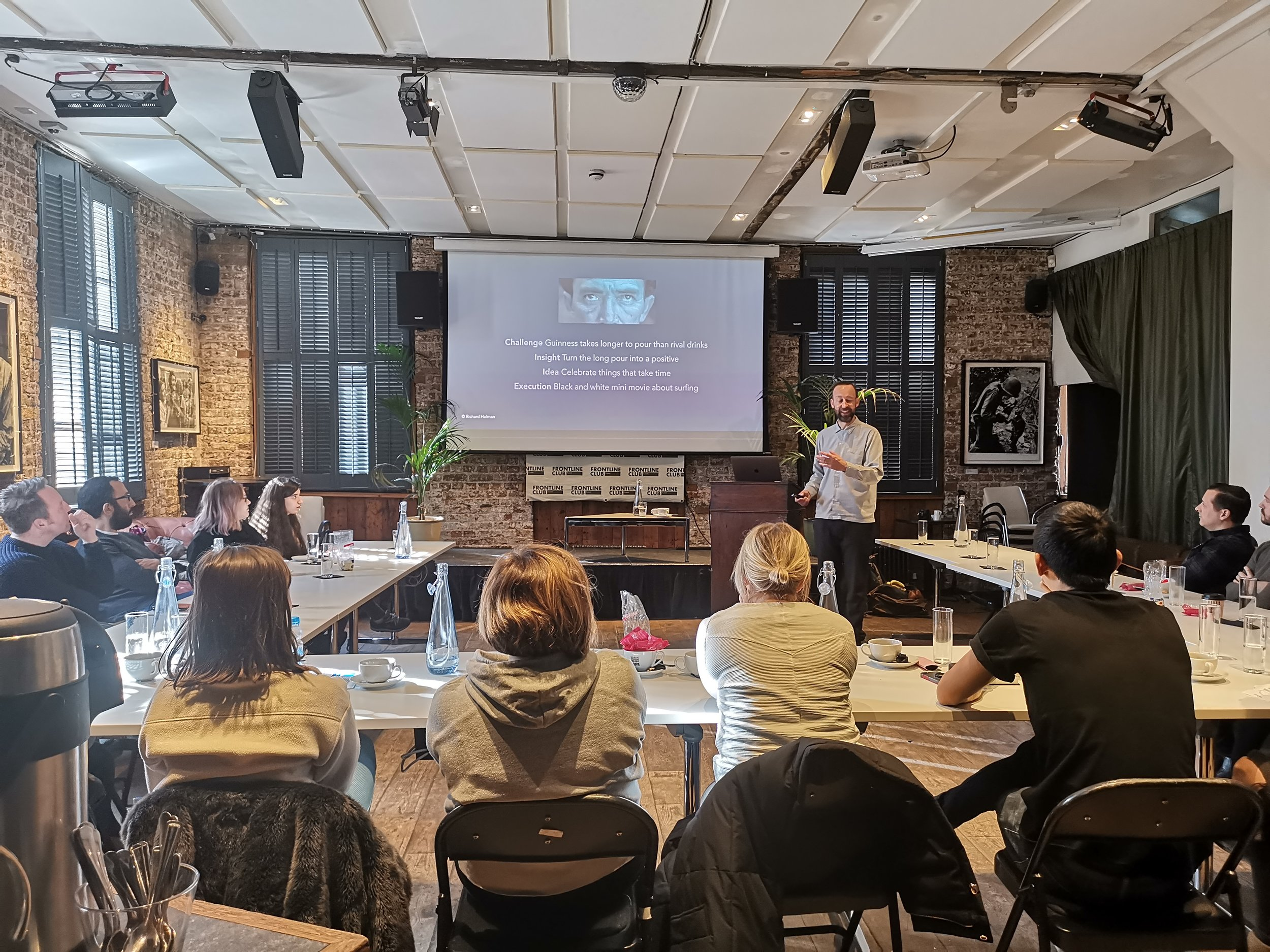 A recent Creative Masterclass with Turner Broadcasting in London.