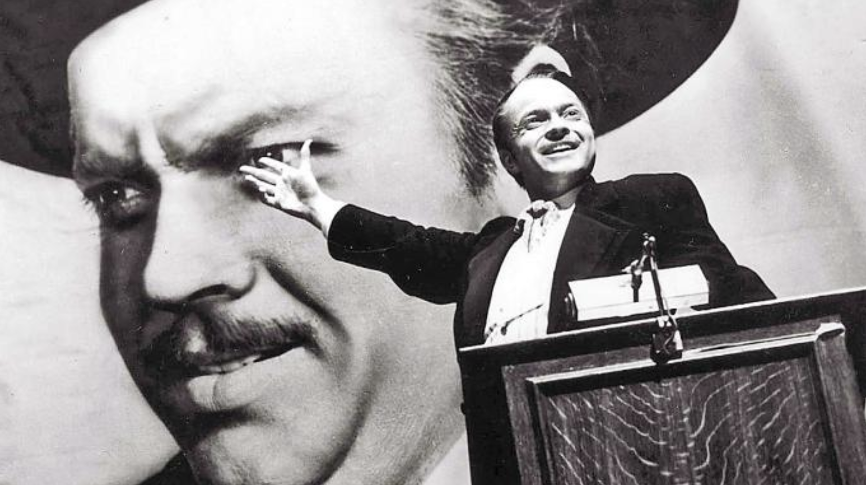 A still from Citizen Kane, regularly voted the greatest movie of all time.