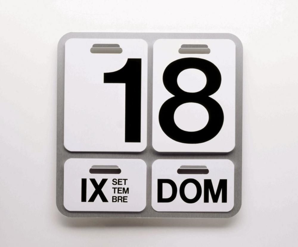 The Calendar Formosa for Danese Milano, 1963